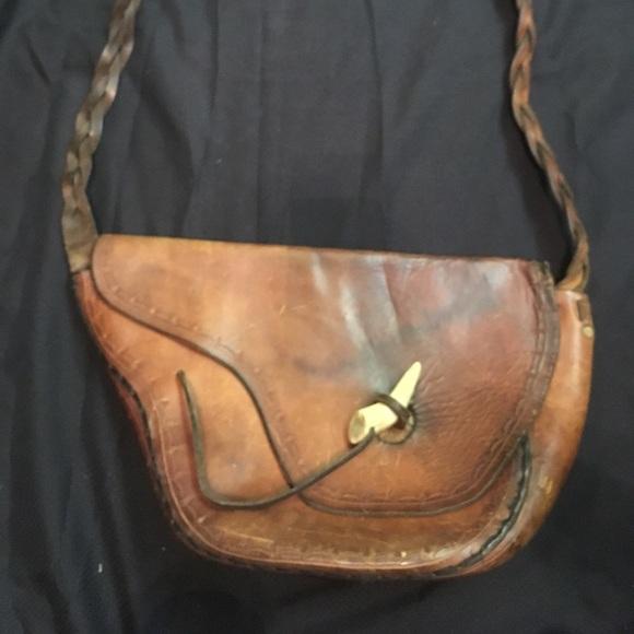 fff9f7f2ea Bags   Vintage Handmade Leather Saddle Bag Purse   Poshmark